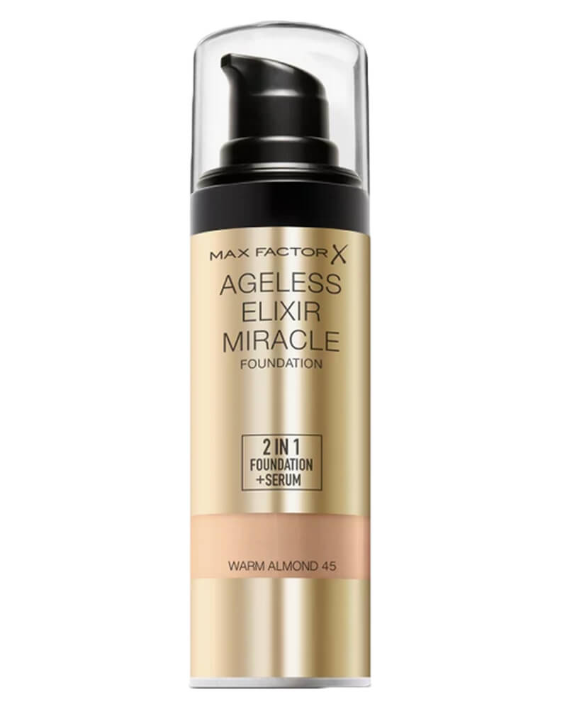 Max Factor Ageless Elixir Miracle Foundation 45 Warm Almond 30 ml