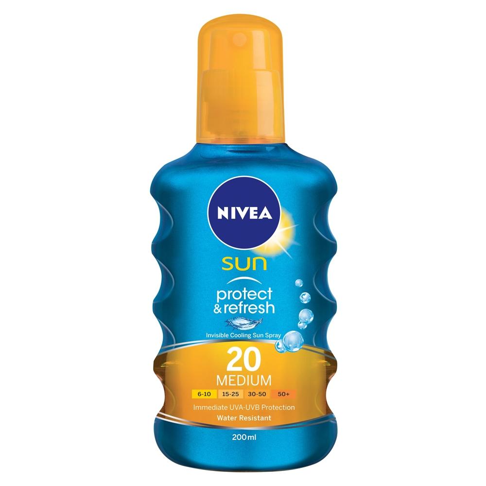Nivea Sun Protect And Refresh SPF 20 Medium 200 ml
