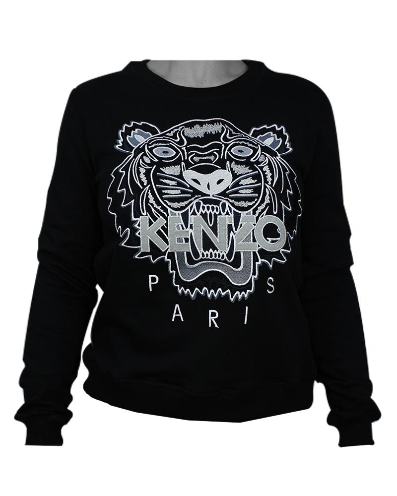 Kenzo Tiger Womans Sweatshirt Black/White XL