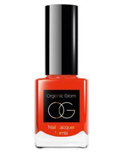Organic Glam Tangerine Nail Polish (U) 11 ml