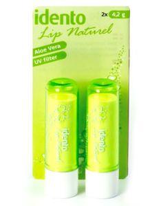 Idento Lip Naturel, Aloe Vera 2pak (Grøn)