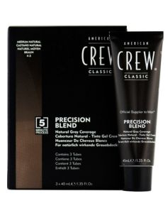 American Crew Precision Blend - Medium Natural 4-5 3x40ml