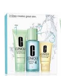 Clinique Set 4-Step Skin Care - Oily (Blå)  180 ml