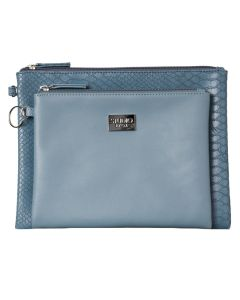 Gillian Jones 2 pcs Clutch set Blue/Snake - Art: 10744-13