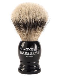 Barburys Shaving Brush - Silver Gloss