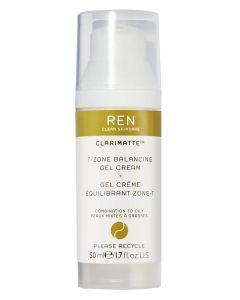 REN Clarimatte - T-Zone Balancing Gel Cream 50 ml