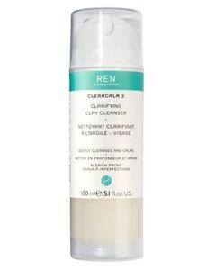 REN Clearcalm 3 Clarifying Clay Cleanser 150 ml