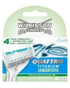Wilkinson Sword - Quattro Titanium Sensitive 4pak