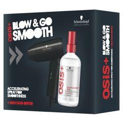 Schwarzkopf OSIS+ Blow & Go Smooth Sæt m. Rejseføntørrer 200 ml