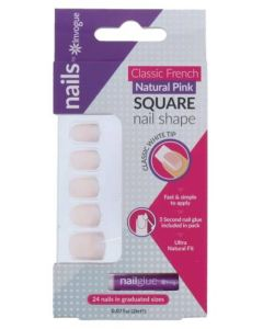 Invogue Classic French Natural Pink Square