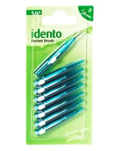 Idento Pocket Brush 8 x 1,0mm (Grøn/Turkis)