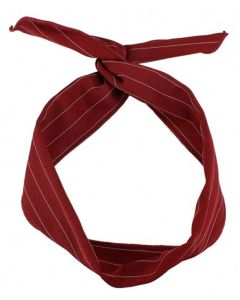 Everneed hårbånd Karmen - Rød med nålestrib (U)