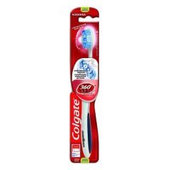 Colgate 360 Optic White Tandbørste - Medium - Blå