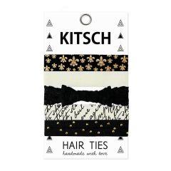 KITSCH - Fleur De Lis Hair Ties - 5 stk