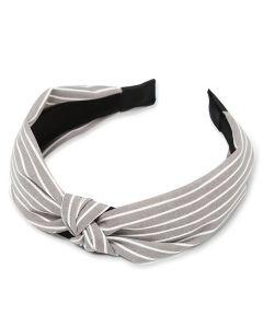 Everneed Haarband Kara Streifen - Grau
