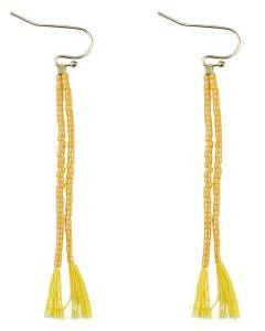 Everneed Nille Quaste Ohrringe - Yellow