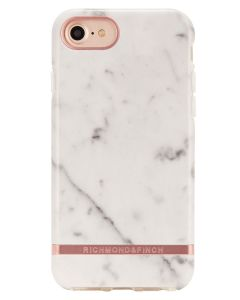 Richmond And Finch White Marble - Rose iPhone 6/6S/7/8 Cover