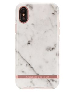Richmond And Finch White Marble - Rose iPhone X/Xs Cover