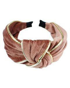 Everneed Velvet Haarband - Rosa/gold