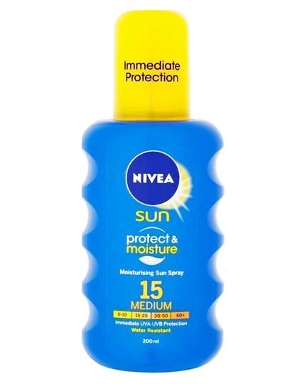 Nivea Sun Protect And Moisture SPF 15 Medium 200 ml