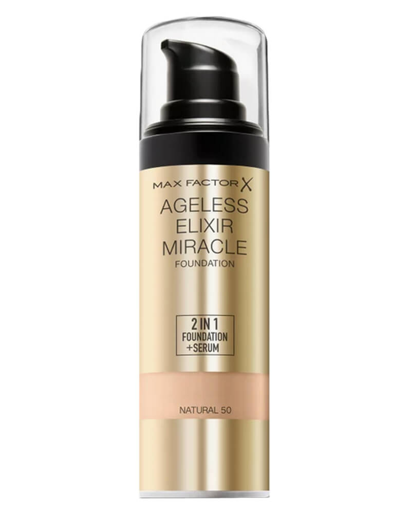 Max Factor Ageless Elixir Miracle Foundation 50 Natural 30 ml