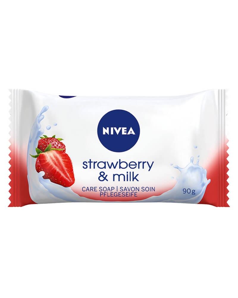Nivea Strawberry & Milk Hånd- og Kropssæbe 90 g